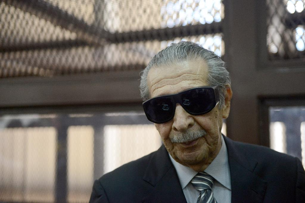 Former Guatemalan de facto President (1982-1983), retired General Jose Efrain Rios Montt, 86, during a court hearing in Guatemala city on November 19, 2013