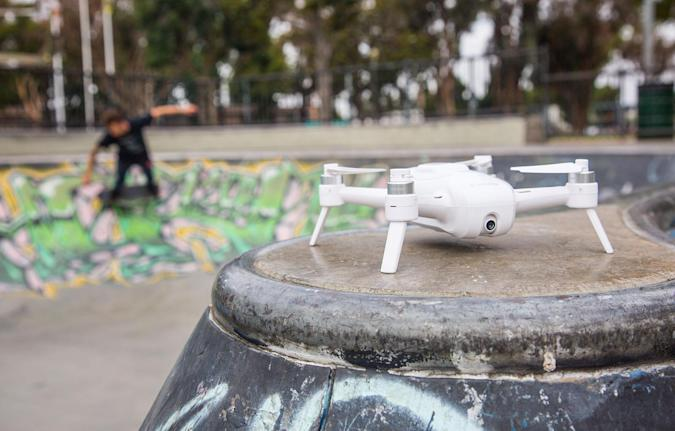 The compact Yuneec Breeze drone is built for 4K selfies