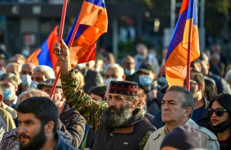 Thousands rally in Armenia against disputed peace deal