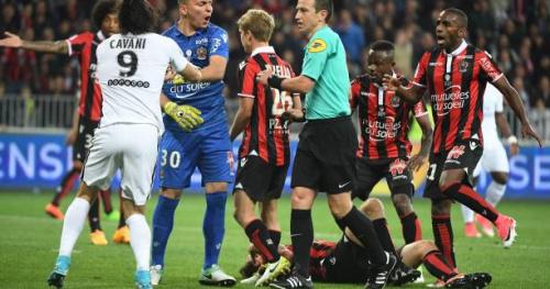 Foot - L1 - PSG - Le président du PSG NasserAl-Khelaïfi charge l'arbitrage après la défaite contre Nice