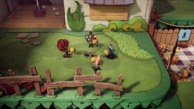 Multiplayer level in Sackboy: A Big Adventure