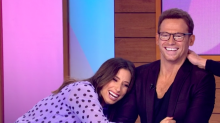 Stacey Solomon awkwardly photoshops Joe Swash into Christmas card