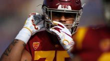 Clay Helton won't say it, but USC's starters on offensive line appear to be set