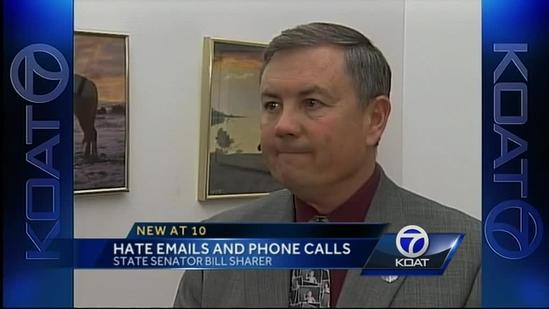 Conservative state senator dealing with hate mail, death threats