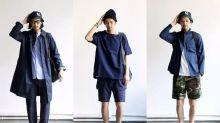 日系男春夏穿搭的造型示範