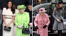 Kate and Meghan check with the Queen about their outfits