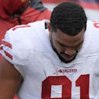 49ers' Jordan Reed goes down with ankle injury in win over Giants
