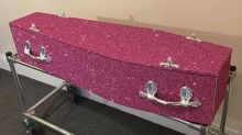 You can now get buried in a bespoke glitter coffin