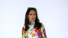 Salma Hayek Turns Heads in Form-Fitting Floral Dress