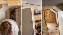Familie entdeckt nach drei Jahren verstecktes Zimmer in ihrem Haus