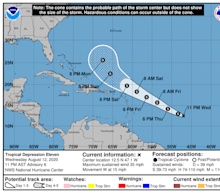 A new depression in the Atlantic could become Tropical Storm Josephine this week