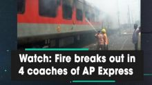 Watch: Fire breaks out in 4 coaches of AP Express
