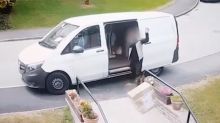 Delivery driver caught throwing boxes of antiques down stairs