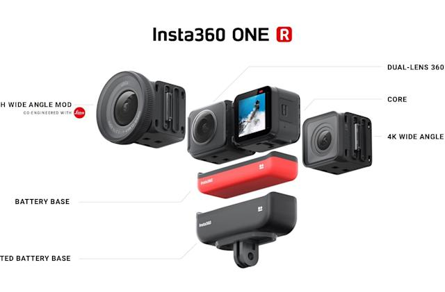 Insta360's modular action cam gets 360-degree and 'Leica' mods