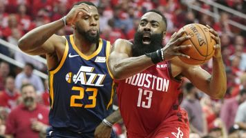 Harden's sizzling season spilling into playoffs