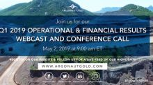 Argonaut Gold Announces First Quarter 2019 Operating and Financial Results