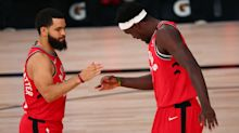 Pascal Siakam can't hide how happy he is for Fred VanVleet