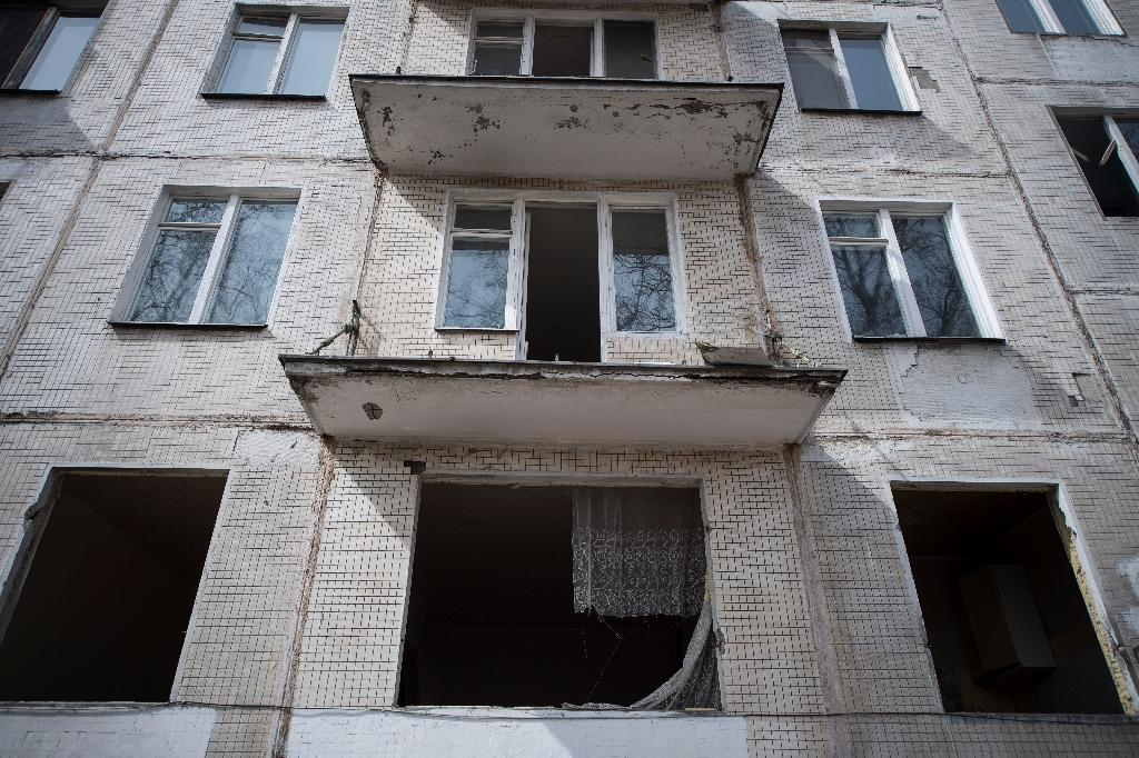 The iconic five-storey buildings -- under threat from the Moscow building project -- were conceived under Nikita Khrushchev as the Soviet Union rushed to build housing for everyone (AFP Photo/Natalia KOLESNIKOVA)