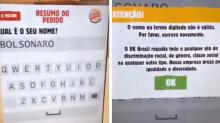 Por que Burger King vetou nome de Bolsonaro no totem de atendimento