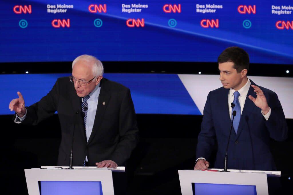 Pete Buttigieg Once Wrote a High School Essay About His Idol, Bernie Sanders. Tonight, He'll Debate Him