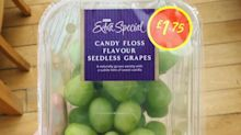Asda is selling candy floss flavoured grapes