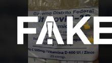 É #FAKE que governo federal tem distribuído kits anti-Covid com medicamentos a estados e municípios