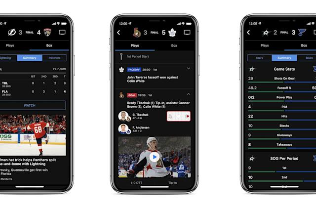 NHL updates its website and apps to deliver more video clips and stats