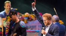 Royal Rock Show: Prince Harry Joins Coldplay On Stage At Kensington Palace Charity Gig