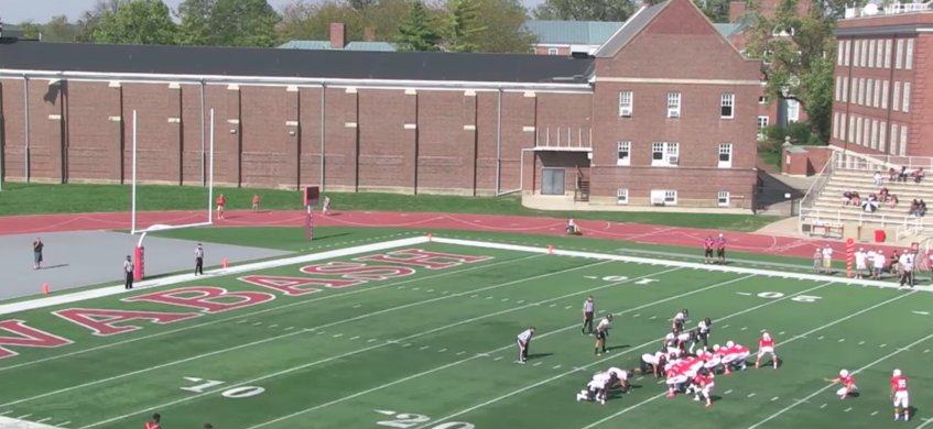 Wabash College Kicker Runs Own Blocked Field Goal In For