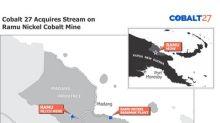 Cobalt 27 Acquires a Cash Flowing Cobalt-Nickel Stream on Producing Ramu Nickel-Cobalt Mine for US$113 Million (C$145 Million)