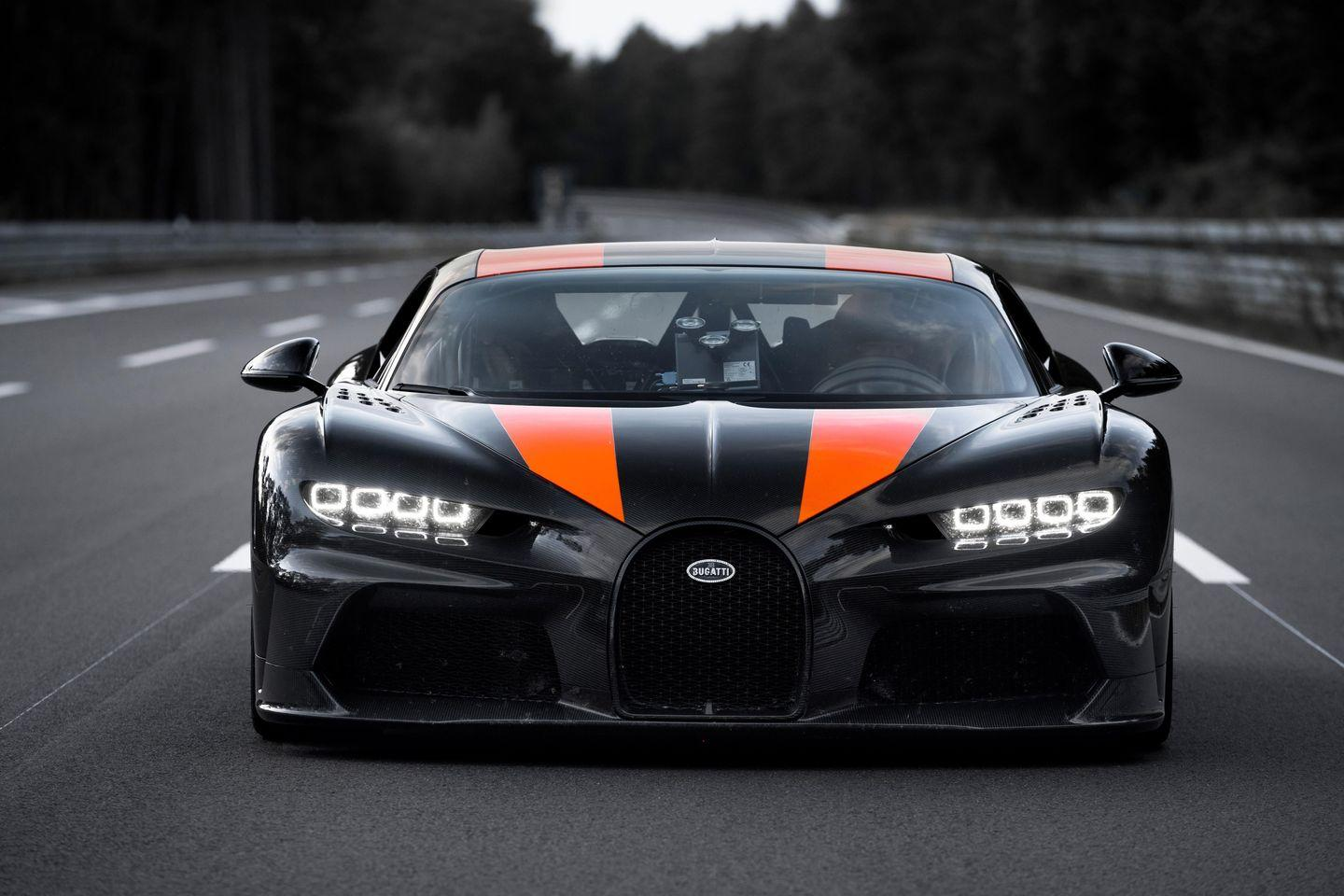 """<p>Bugatti shocked the world when it revealed it had broken the 300-mph-barrier for production vehicles with its <a href=""""https://www.roadandtrack.com/new-cars/a29033361/bugatti-chiron-super-sport-300-record-run-jump/"""" rel=""""nofollow noopener"""" target=""""_blank"""" data-ylk=""""slk:Chiron Super Sport 300+"""" class=""""link rapid-noclick-resp"""">Chiron Super Sport 300+</a>. It goes without saying that having to worry about a third pedal and a shifter at those speeds is out of the question. </p>"""