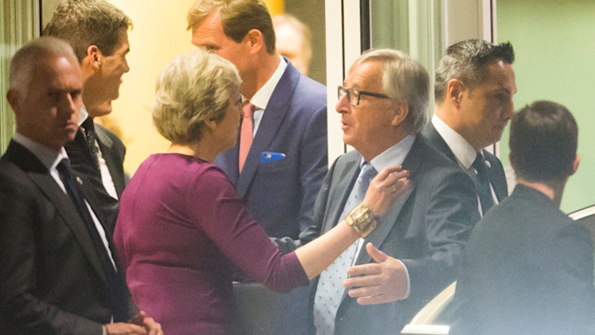 Theresa May described as 'despondent' with 'rings under her eyes' in leaked account of Brexit dinner with Jean-Claude Juncker