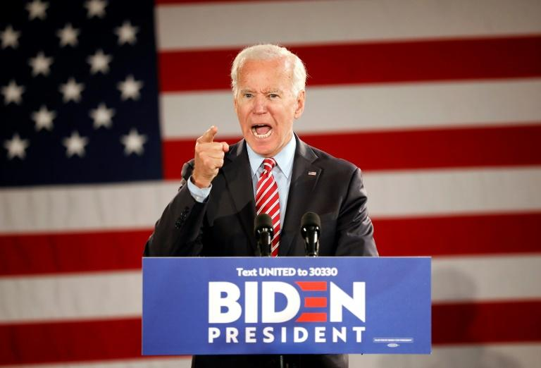 "Scranton ""climbs in your heart,"" Biden said during this rally in the city on October 23, 2019"