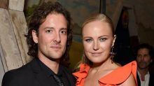 Malin Akerman just married Jack Donnelly in a beautiful coloured wedding dress