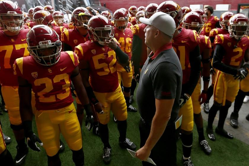 On day he is fired Clay Helton thanks USC, players 'for opportunity of a lifetime'