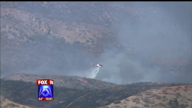 Brush Fire Burns Off SR-52