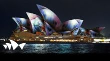 Sydney Opera House Forms Backdrop for Vivid Festival Light Show