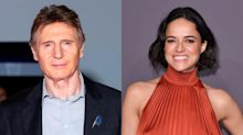 Michelle Rodriguez defends Liam Neeson based on how he kisses: 'You can't call him a racist ever'