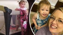 Mum sets up hidden camera to bust escape-artist toddler