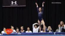 Gymnast's amazing routine scores perfect 10