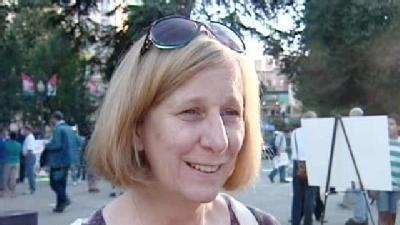 RAW: Cindy Sheehan Returns To 'Occupy Sacramento'