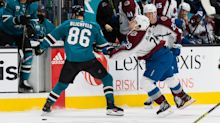 Sharks' Joachim Blichfeld suspended for head shot on Nathan MacKinnon