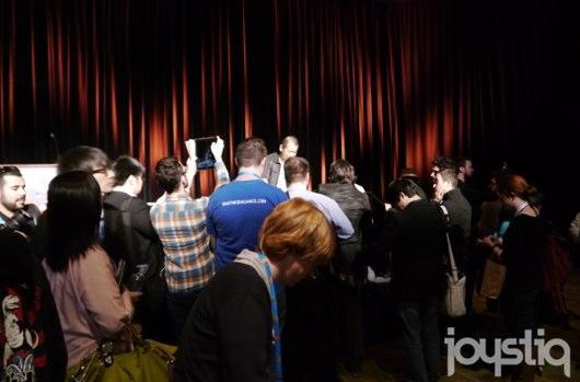 Seen@GDC 2014: (The mob surrounding) Yu Suzuki