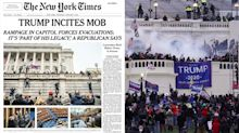 'Trump incites mob': Newspapers mark historic day for America