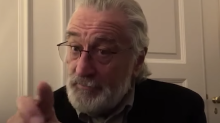 Robert De Niro warns 'I'm watching you!' in video about staying home during pandemic