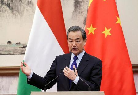 China's Foreign Minister Wang Yi attends a joint news conference in Beijing