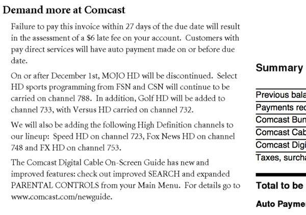 Oregon Comcast users to lose MOJO, gain a few others in December