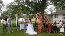 Bride's Sister Wears a T-Rex Costume to Wedding: 'I Regret Nothing'