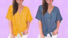 Blusa de verano 'exageradamente cómoda' rebajada a 20 dólares: ¡un 50% de descuento!