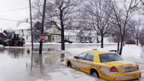 Raw: Flooding in Detroit After Water Main Break
